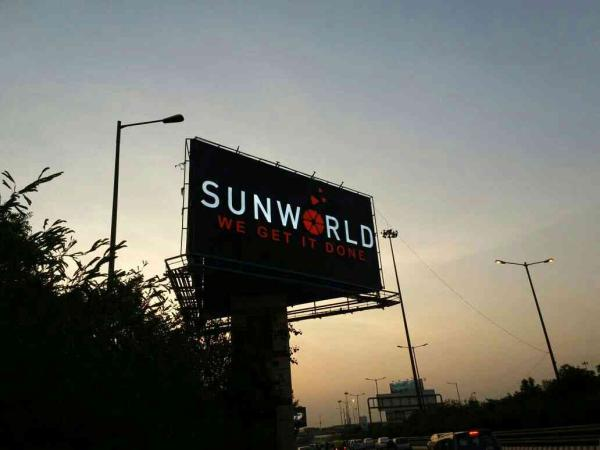billboard innovation at greater noida expressway. channel letters at its best. - by Aruna Global, New Delhi