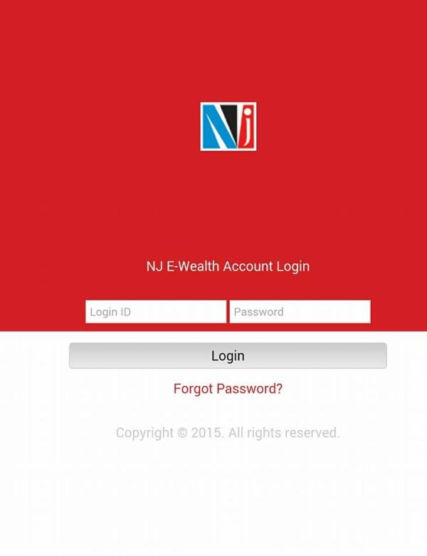 NJ E-Wealth A/C Mobile Application  NJ E-Wealth A/c: Freedom to transact anytime, anywhere.  The customers of NJ Wealth Partner (MoneyFest Wealth) can benefit immensely from the NJ E-Wealth A/c service, which helps avoid the hassles & worri - by MoneyFest Wealth, Kolkata
