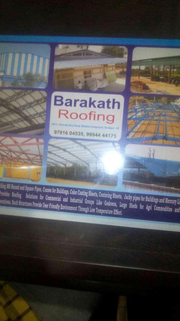 Roofining sample in dindigul - by Barakath roofing, Dindigul