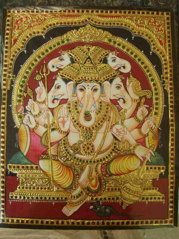 Mysore painting in Bangalore - by Sri Balaji Art Centre, Bangalore
