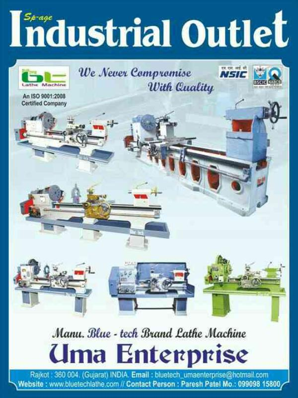 we are lathe machine manufacturer in rajkot  - by Uma Entetprisr, Rajkot