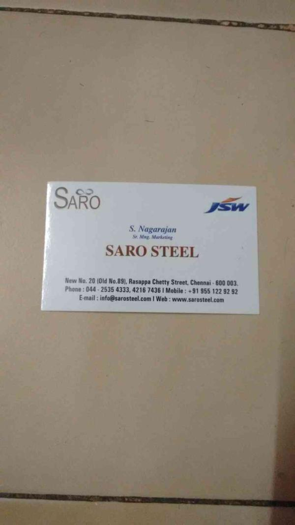 visiting card - by Sri Ambal Roofings, Chennai