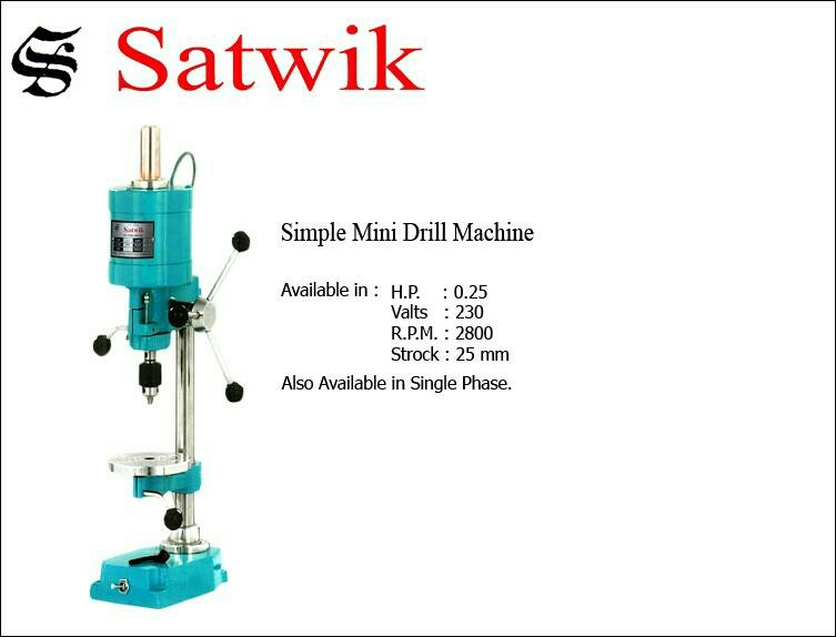 Small Drill Machine manufacturer at Atika Dhebar Road rajkot - by Satwik Electricals, Rajkot