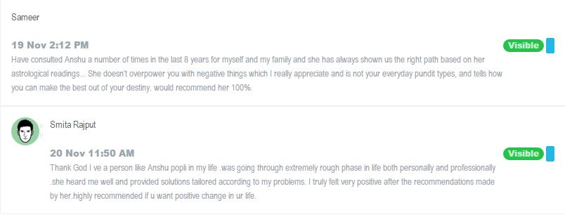 Humbled to get such feedback. Its always my effort to help my clients in the best way possible. Being an #Astrologer gives me opportunity daily to achieve that. Grateful Always!! - by Anshu Popli, Mumbai