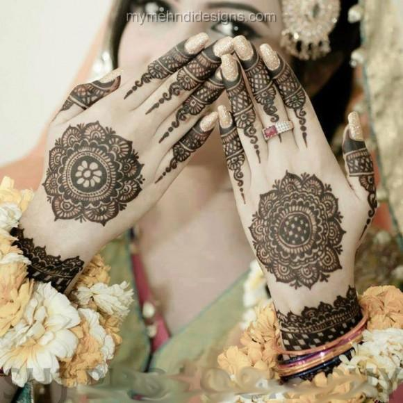 Beautiful and Traditional Look #MehendiDesigns to make your events special. - by Bridal Mehendi Designer, Visakhapatnam