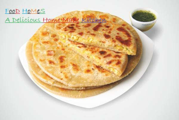 Corn Paratha  Corn Paratha with Dhaniya Chatani in our kitchen for you EveryDay.  Helathy and Hygenic food for your health.  Order Online food to deliver Parathas from Our Kitchen. - by Food Homes - A Delicious Home Made Kitchen, New Delhi