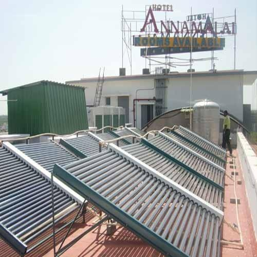 Industrial Solar Water Heaters  Manifold Solar Water Heaters is generating minimum 80 degree c @ ambient of 20 degree. This technology is very comfortable and high efficiency. - by Sunmax Energy Systemss, Pondicherry