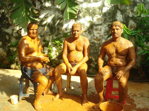 #MudBath application improves oxidation, cleans the skin and  regulate body systems. Relieves arthritis, skin complaints. - by Nature Cure Hospital, Vishakhapatnam