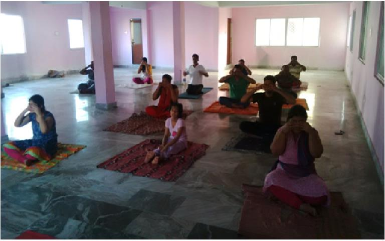 #Yoga  relieves physical joint pains and mental stress. maintains good health, peace and tranquility.  - by Nature Cure Hospital, Vishakhapatnam