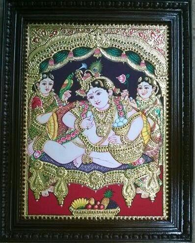 Tanjore paintings of Krishna in Bangalore - by Sri Balaji Art Centre, Bangalore