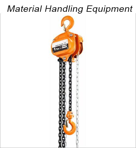 We offer a wide range of material handling equipment like KEPRO make Chain Pulley Blocks, Electric Hoists, Trolley, Winches, Nylon Slings make cranes MAHADEV make wire rope & wire rope slings. Diamond make industrial Roller & conveyor chain - by Material Handling and Lifting Equipment in Delhi|Balkishan Dass, delhi