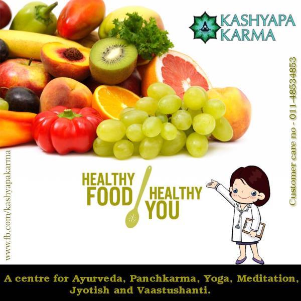 Eat healthy to stay healthy  - by Kashyapa Karma, New Delhi