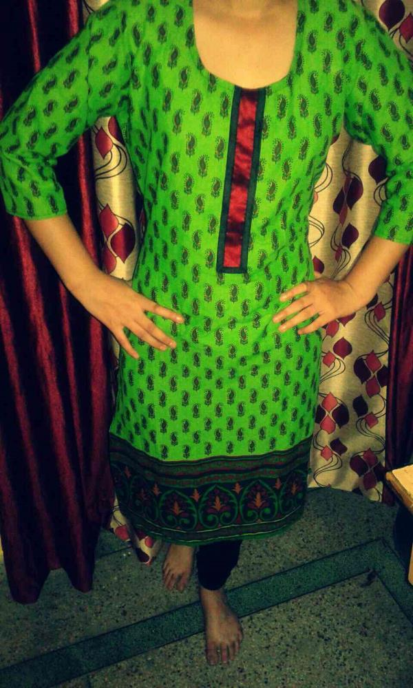 Green Lace Kurti MRP: Rs 1000 Selling Price - 800@20% off Size: XL  - by Beauty Elegance, Jaipur