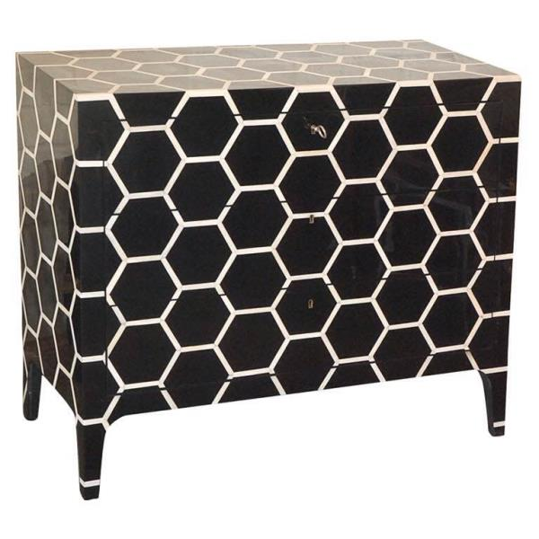 Black Bone Chest Of Drawer Colour - Black Size - 105 x 75 x 45 cm  A Product By Miclandts  - by Miclandts, Udaipur