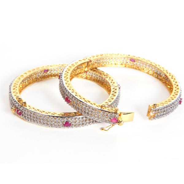 Stone Bangles  Stone Bangles wholesalers, which provides quality stone bangles at reasonable price along with products . Ruby floral design gold plated bangles - by www.frozaz.com, New Delhi