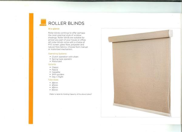 Roller Blinds most practical style of Window Shading  Roller Blind suitable for almost any part of office   comes with the choice of  Roller Blinds Block Out Fabric  Roller Blinds Screen 5% Openness Factor  Roller Blinds Screen 3% Openness  - by Srilakshmi Enterprises Roller Blinds Dealers in Bangalore, Bangalore