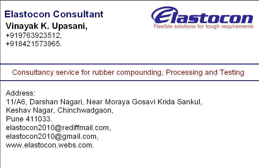 We provide solutions for development of new parts solutions for problems in formulations, materials, processes and all other areas of rubber industries. - by Elastocon Consultant, PUNE