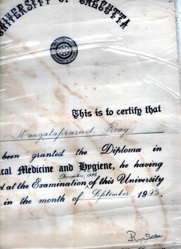 D T M& H diploma in medicine - by Dr Mangala Prasad Roy, KOLKATA-156