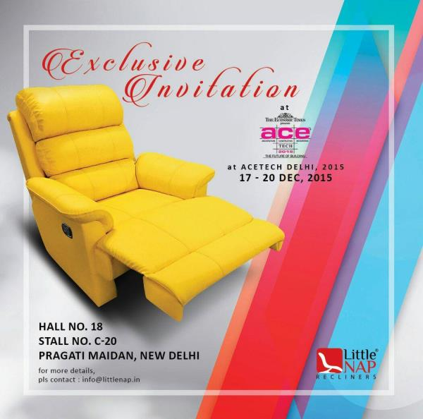 Little Nap Recliners in delhi exhibition at Pragati Maidan. - by Little Nap Recliners, Delhi
