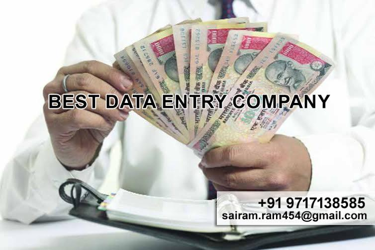 Sai Ram Associates is one of the leading data entry companies in Delhi offering work from home facility. we can offer anyone the opportunity to make something of themselves and it is really quite simple to do read more detail...http://www.s - by Best Data Entry Company, New Delhi