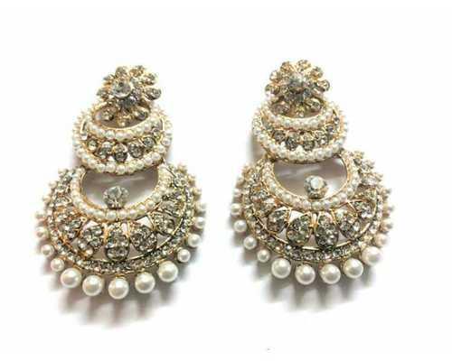 Kundan Pearl Earrings Manufacturer in South Delhi   Kundan Pearl Pendant Set Manufacturer in Faridabad   Kundan Pendant Set Manufacturer in Faridabad   Kundan Pearl Stone Studded Earrings Manufacturer in Faridabad  Kundan Polki Earrings M - by www.frozaz.com, New Delhi