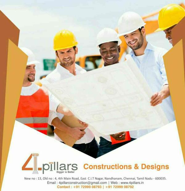 We Are One of The Best Building Contractors in Chennai.. - by 4 Pillars Constructions & Designs, Chennai