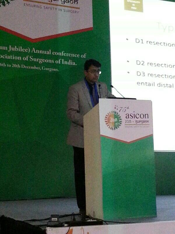 Presented a talk on chemotherapy in  stomach cancer at  prestigious ASICON , 2015  Dr sushant mittal  Expert team on best oncologist on Delhi NCR og Dr Hari Goyal,  Dr Samit Purohit  - by Best Cancer Doctors Team In Delhi NCR @ 9818930805, Gurgaon