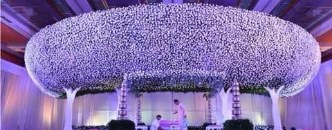 Wedding Decorations Tamilnadu. This photo will show one of our art work how we decorate the Stage for a Wedding. For Wedding Decorations call us. - by Samprathaaya , Dindigul