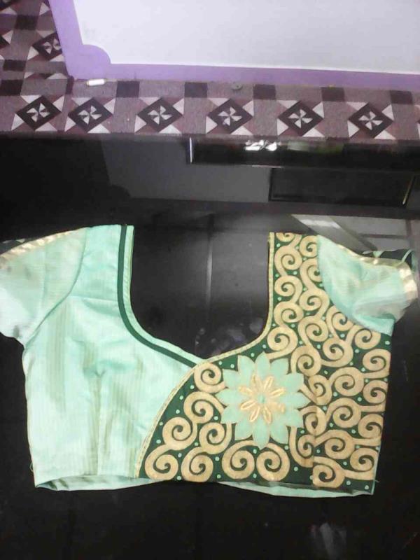 Embroidry Blouse Pattern Design. - by Priya Designing And Tailoring, Madurai
