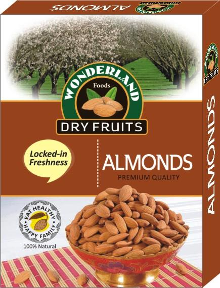 Eat Healthy. Be Healthy. Almonds helps and support a Healthy Heart and are on of the Most Nutritious Nuts.  Wonderland Foods - Roasted Almonds Packs in Delhi - by Wonderland Foods, Delhi