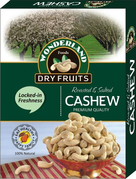 Eat Healthy. Be Healthy. Cashew Nuts helps and support a Healthy Heart and are on of the Most Nutritious Nuts.  Wonderland Foods - Roasted Cashew Nuts Packs in Delhi - by Wonderland Foods, Delhi