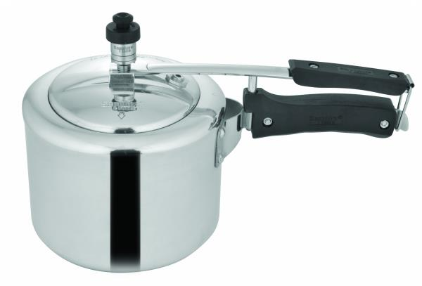 Made of Aluminium, Comes with Stay-Cool Handles and has Storage Capacity of 3 Litre #PressureCooker #HighQuality - by Sapphire Kitchenware | Kitchenware Products Delhi, Delhi
