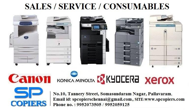 New Year Offer For Xerox Machine Photocopiers In Chennai Brand New Machines And Reconditioned RC Xerox Photocopier Machines Are Available In Chennai Pallavaram Brands : Canon Xerox Konica Minolta Kyocera Samsung Epson Brother  - by SP Copiers, Chennai