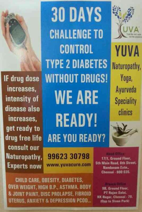 Natural Treatment For Diabetes - by Yuva Naturopathy & Yoga Clinics, Chennai