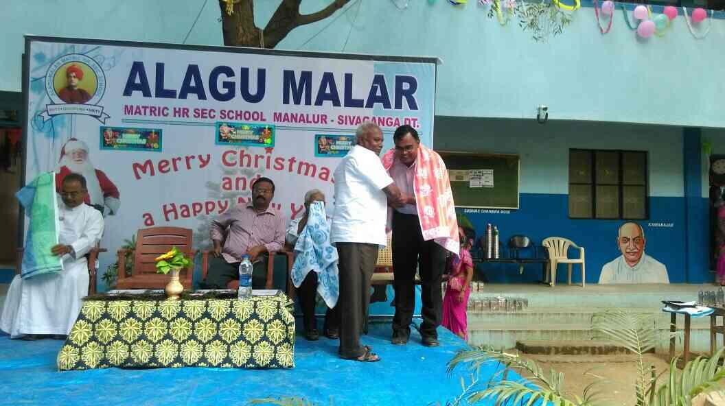 Christmas celebration in our school - by Alagu Malar Matriculation Higher Secondary school, Manalur
