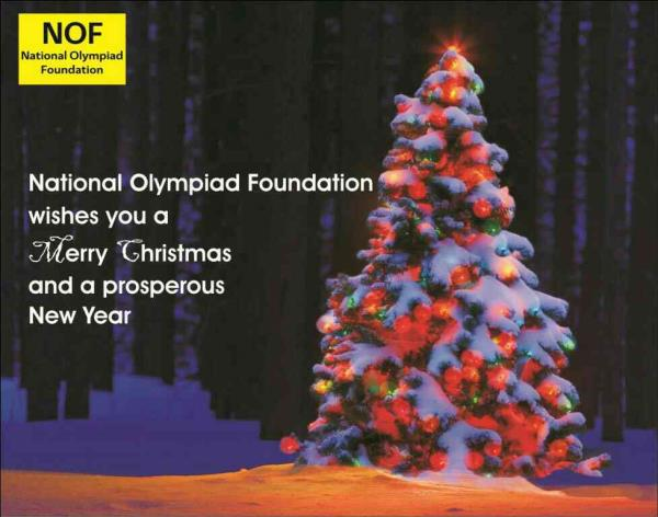National Olympiad Foundation wishes you a very Merry Christmas and a great new year ahead. - by National Olympiad Foundation, Indore