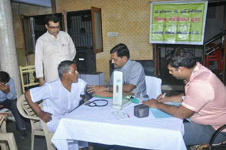 Health cheak- up camp. - by Jivandhara Vrudhashram, Ahmedabad
