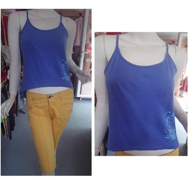 • Blue Tank Top : Rs 150 • Yellow Bermuda Shorts : Rs 350 - by The Will, Vacoas-Phoenix