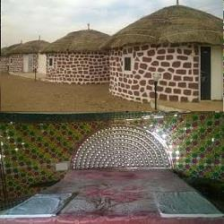 Deluxe huts in Resort, Jaisalmer - by camel safari dunes camp sam resort, Jaisalmer