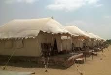 Deluxe Swiss Tents in Resort, Jaisalmer - by camel safari dunes camp sam resort, Jaisalmer