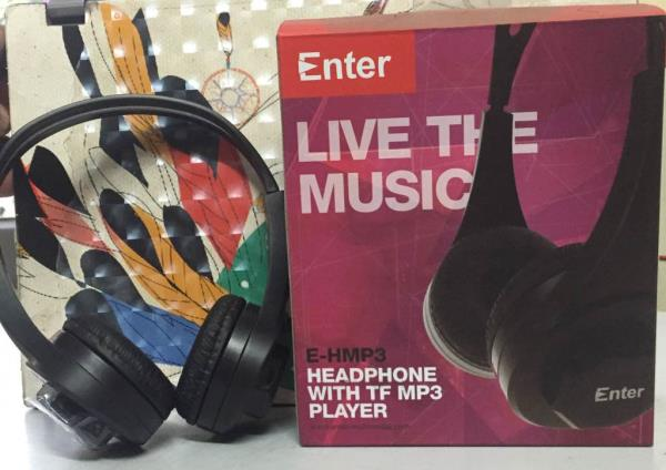 Enter E-HMP3 Headphone with MP3 Player.The wire free Enter TF Mp3 player is especially designed for sport lovers. Incorporating the Over-the-ears design, this headset is extremely comfortable and secure for the most users: bicyclist, runner - by KARAM COMPUTERS, Batala