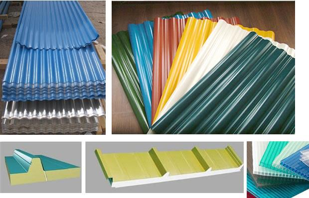 We have:   Pre-Painted Galvanised Metal Sheets Pre-Painted Galvalume Bare Galvalume FRP & POLYCARBONATE Roof Light Sheets Colour Coated Metal Roofing Sheets Roofing Accessories C & Z Purlins  Metal Deck Sheet  Trussless-span  Ventilators-Tu - by Engineering Roofing Solutions, Visakhapatnam