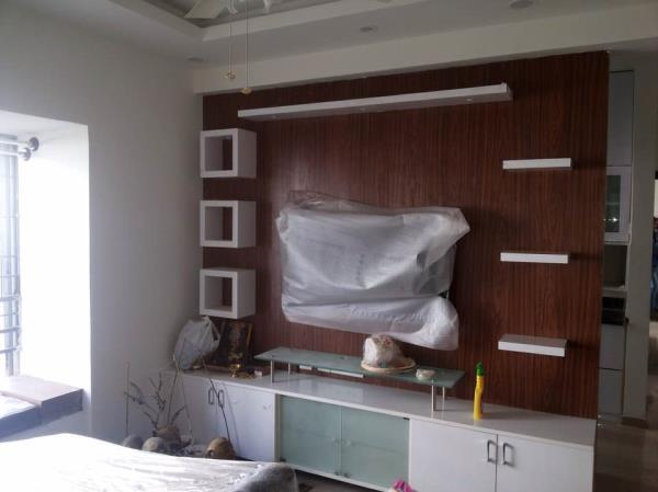 Our designs for TV unit - by Firefly Spaces, Bangalore Urban