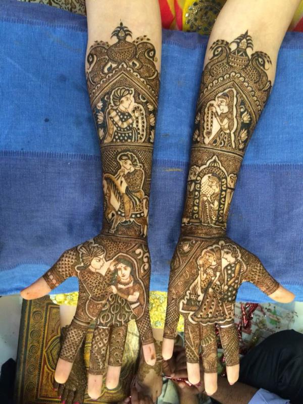Mehandi for bridle - by Kundan Mehandi @ 9810910844, New Delhi