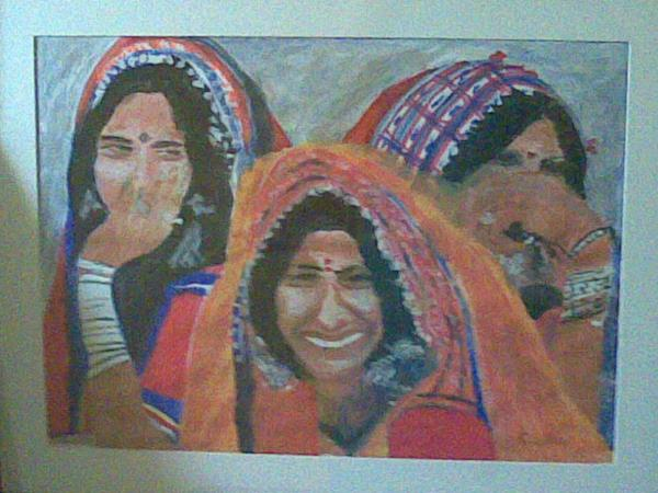 Water  colour on paper - by Sudha Sharma Dixit, Bangalore