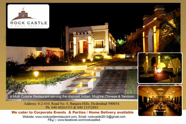 """Enjoy a Special New Year's Buffet at """"Rock Castle Restaurant"""" under the Magic of the Stars, in an Old World Setting with Delicious Food enticing your Taste Buds & the Wintry Chill giving it a Romantic Twist to your Evening as We Ring in the - by Rock Castle Restaurant - A Royal Treat, Hyderabad"""