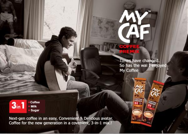 Instant coffee+Creamer & Sugar, it makes a ful bodied cup of coffee with great aroma and a rich, smooth taste. Its specially formulate blends user high quality instant coffee that deliver the perfect cup in a jiffy - by Mycaf, Hyderabad, Secunderabad