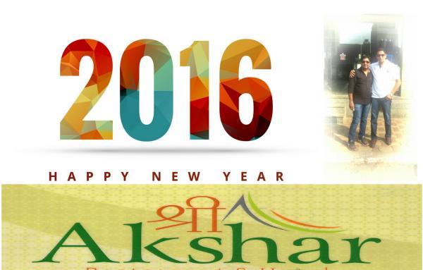 happy new year - by shree akshar hotel, ahemdabad