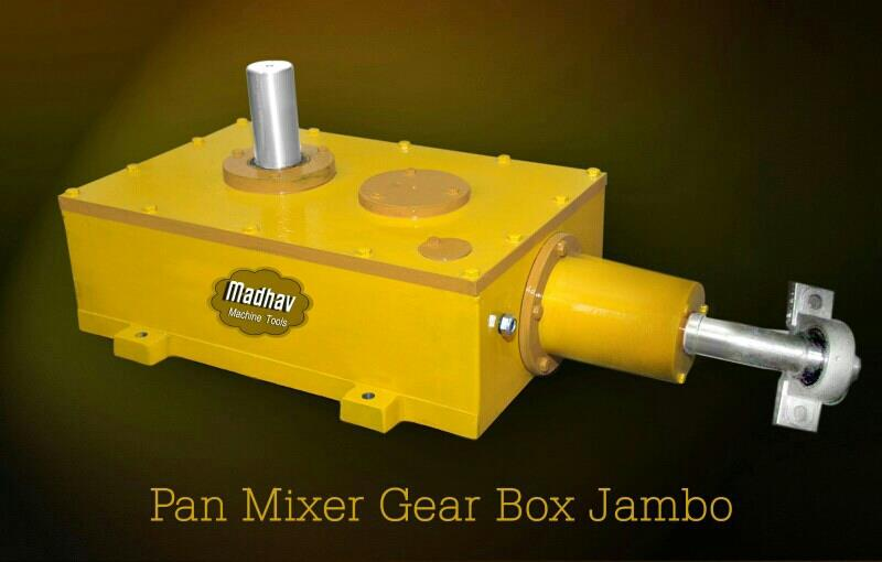 Pan Mixcer Jumbo Gear Box Manufacturers in Rajkot - by Madhav Machine Tools, Rajkot