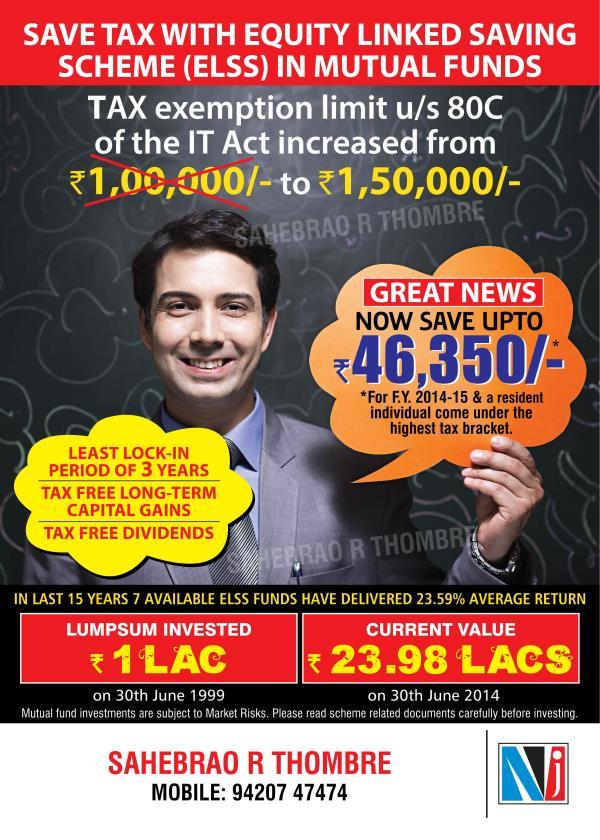 Intelligent Tax saving plans in Aurangabad - by Sahebrao Thombre, Aurangabad